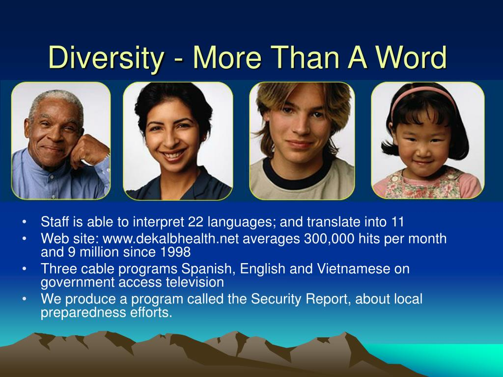 Diversity - More Than A Word