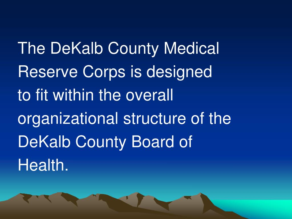The DeKalb County Medical