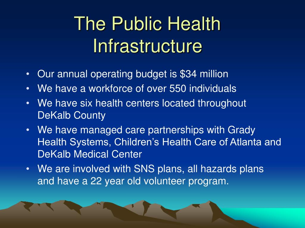 The Public Health Infrastructure