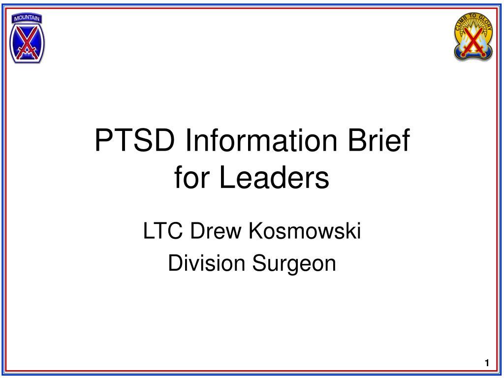 PTSD Information Brief