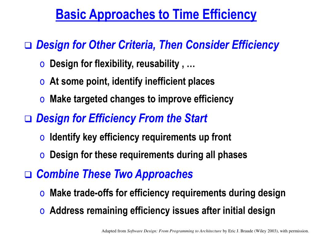Basic Approaches to Time Efficiency