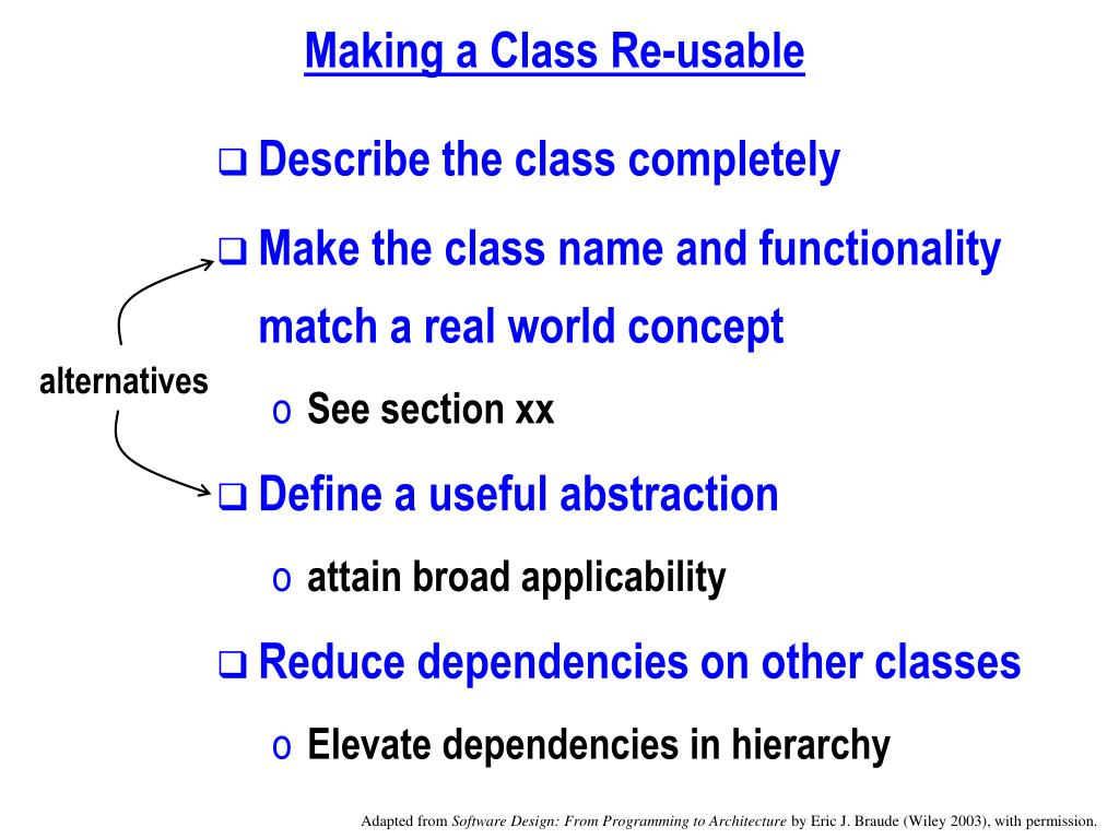 Making a Class Re-usable