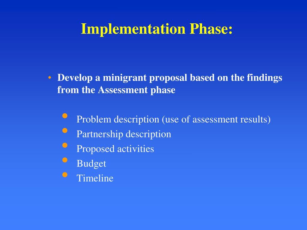 Implementation Phase: