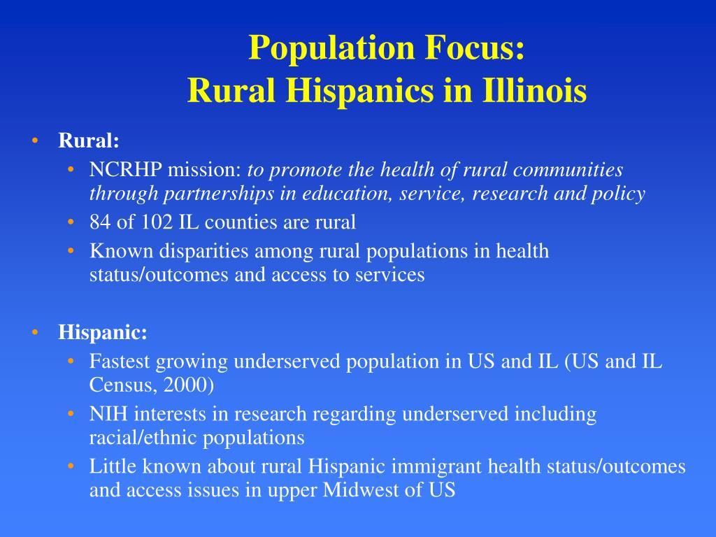 Population Focus: