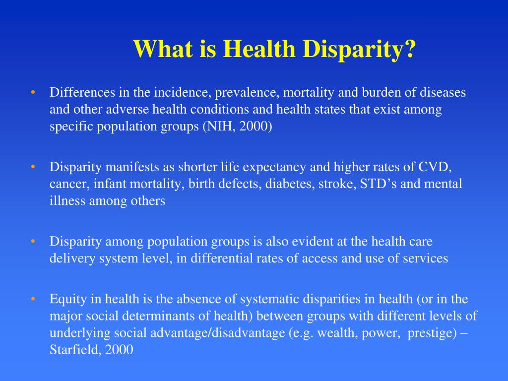 What is Health Disparity?