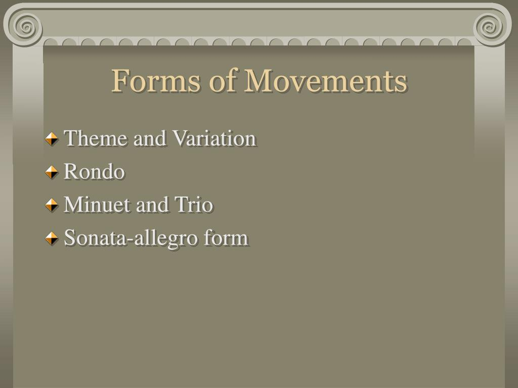 Forms of Movements