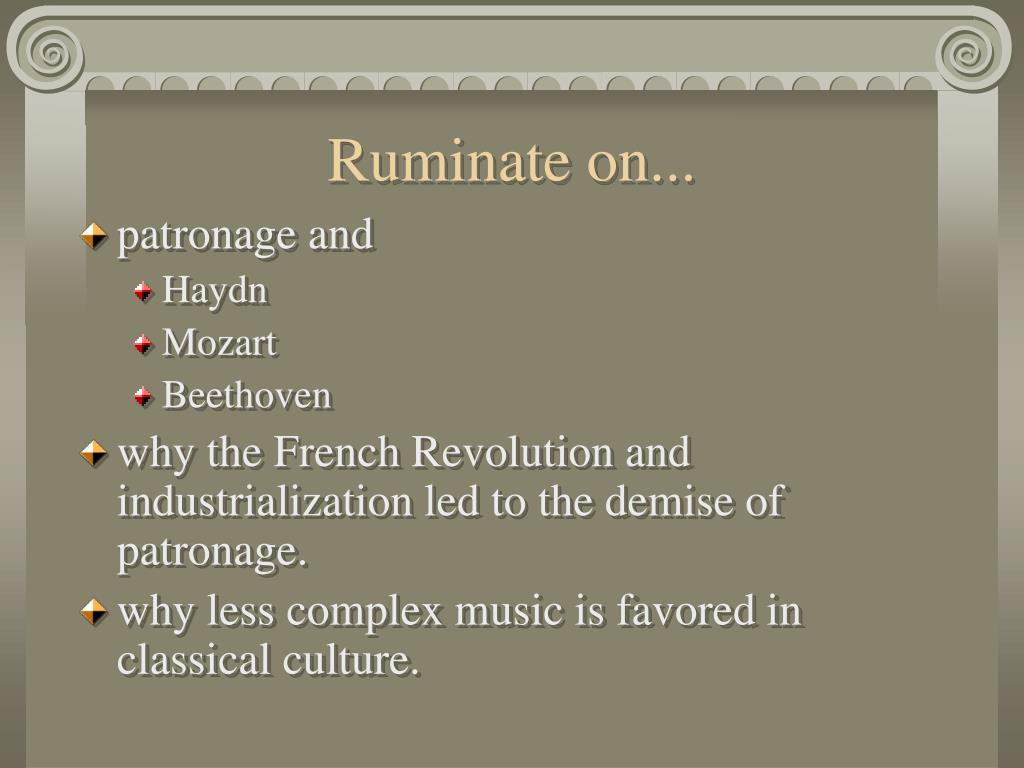 Ruminate on...