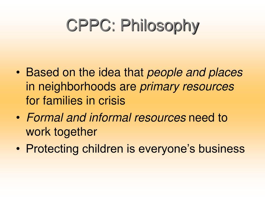 CPPC: Philosophy