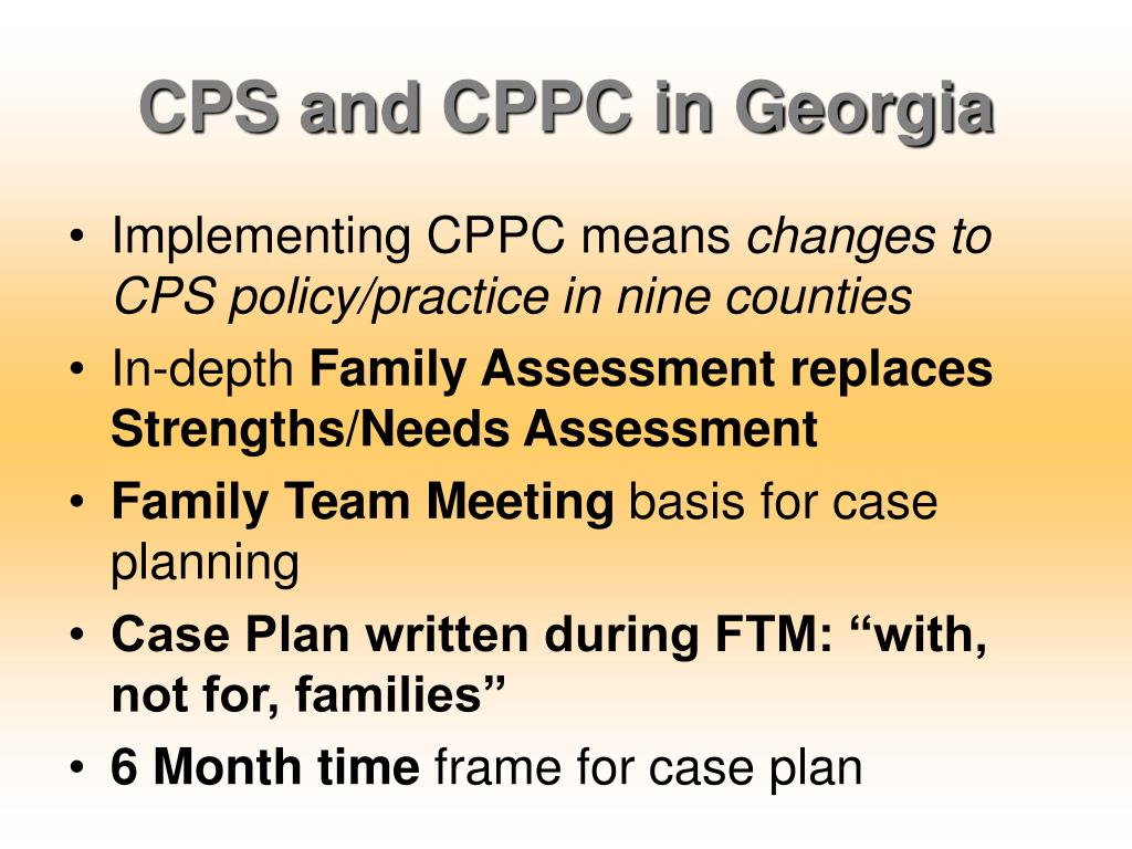 CPS and CPPC in Georgia