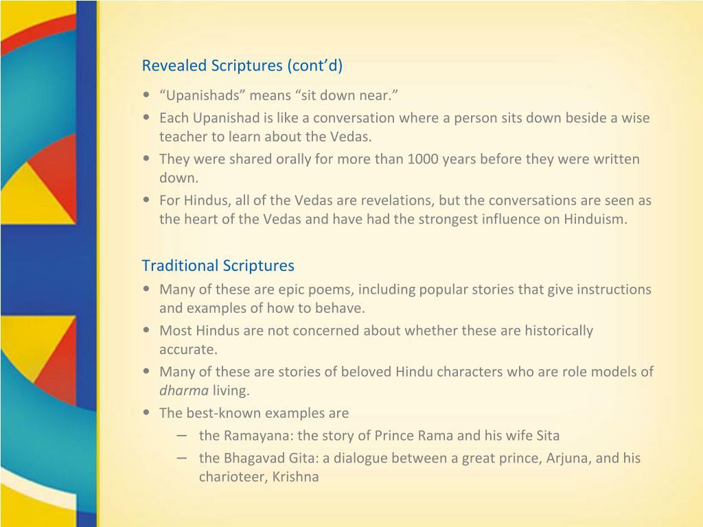 Revealed Scriptures (cont'd)
