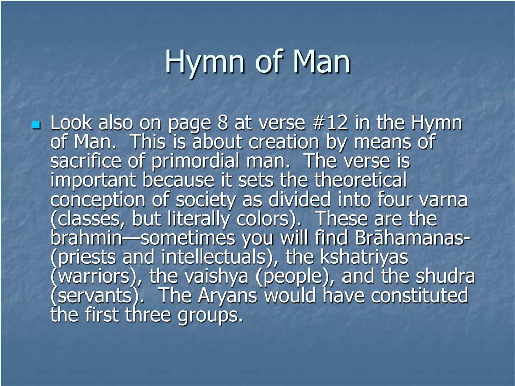 Hymn of Man