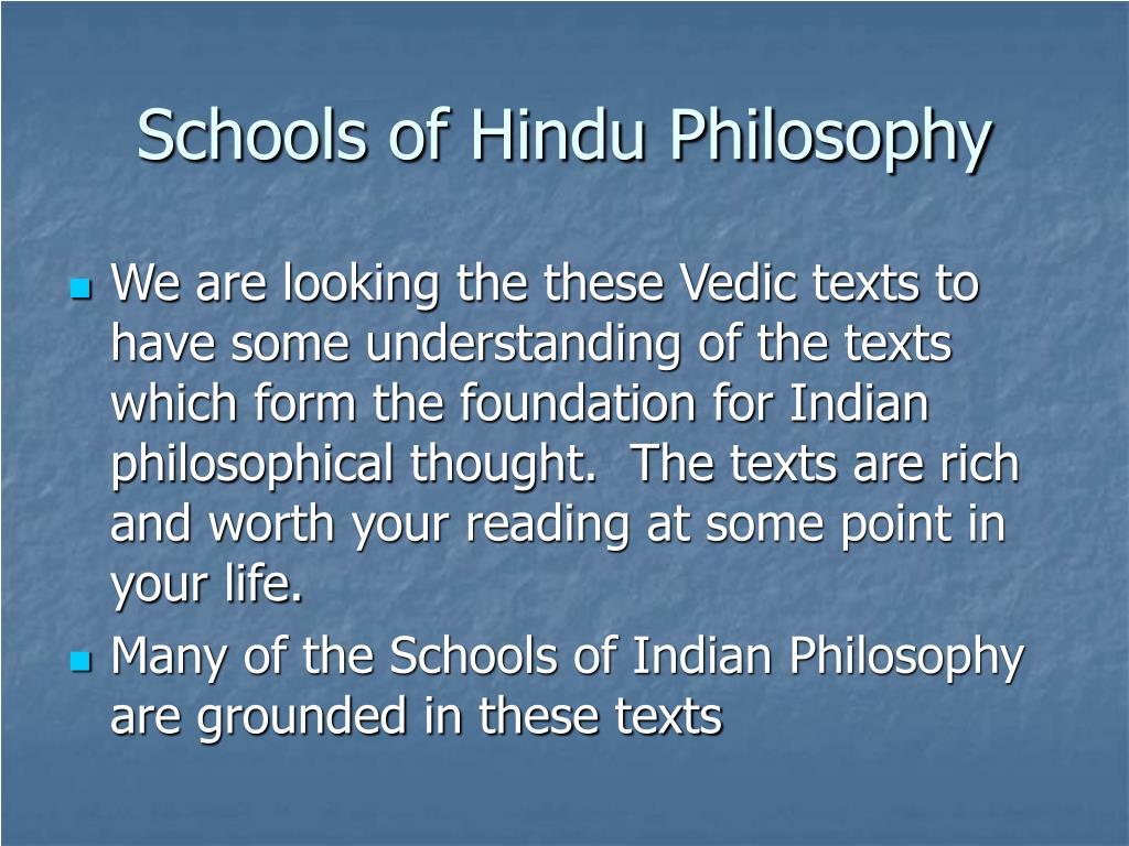 Schools of Hindu Philosophy