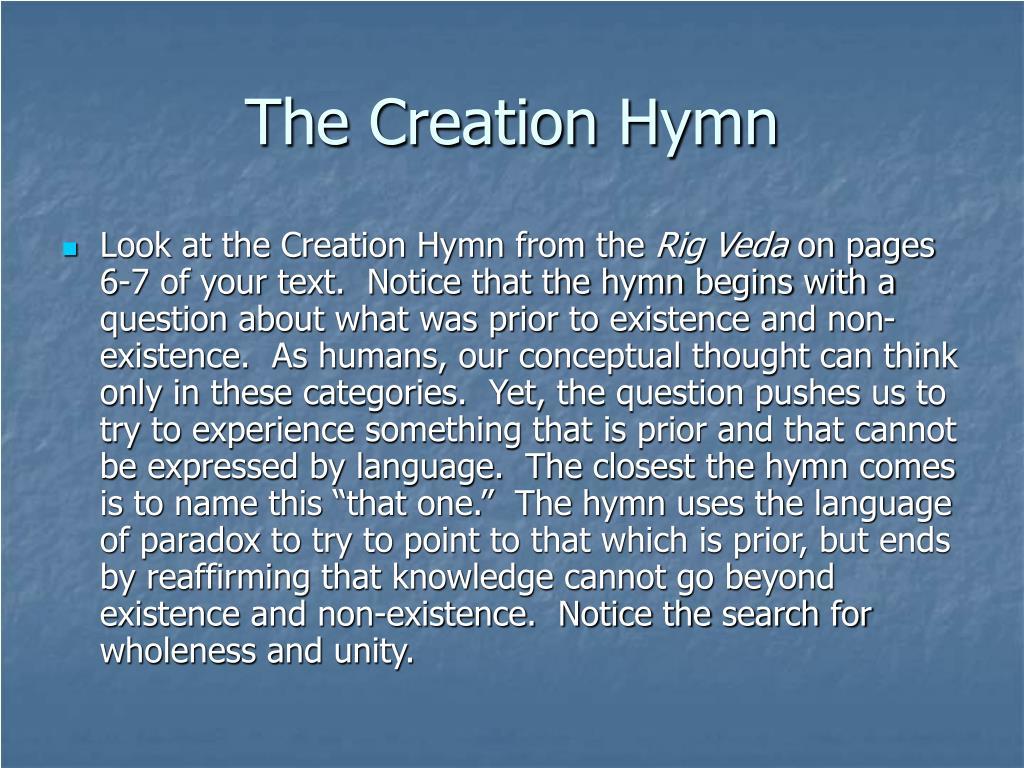 The Creation Hymn
