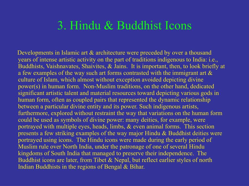 3. Hindu & Buddhist Icons