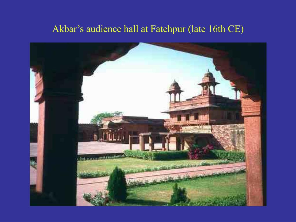Akbar's audience hall at Fatehpur (late 16th CE)