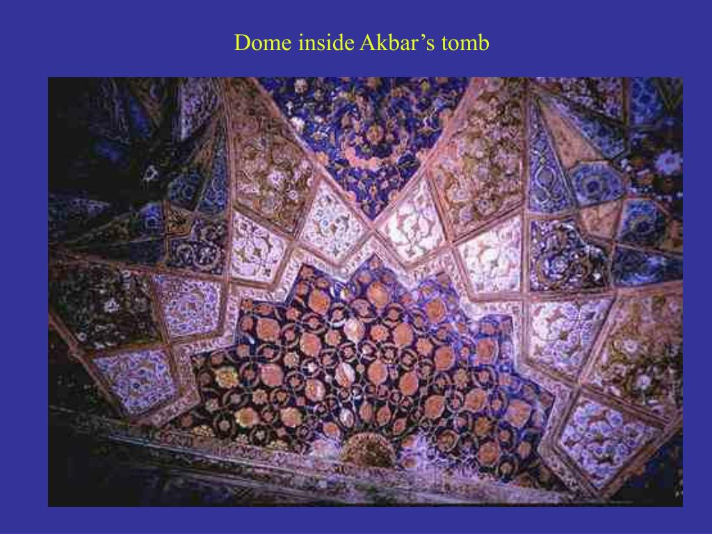Dome inside Akbar's tomb