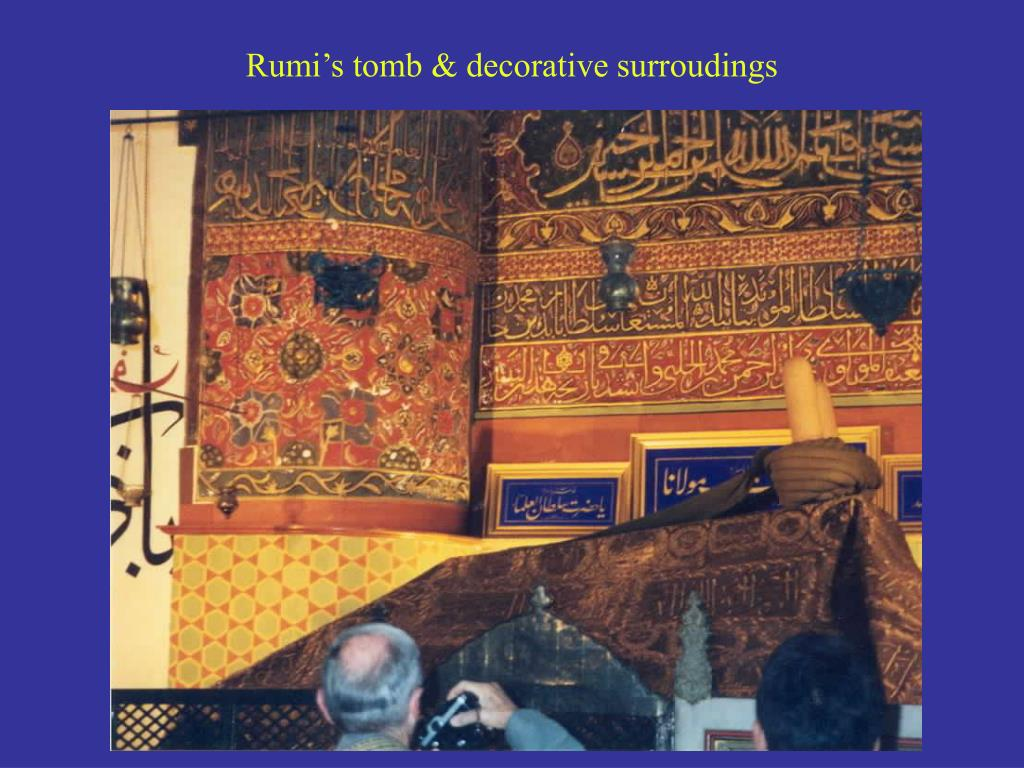 Rumi's tomb & decorative surroudings