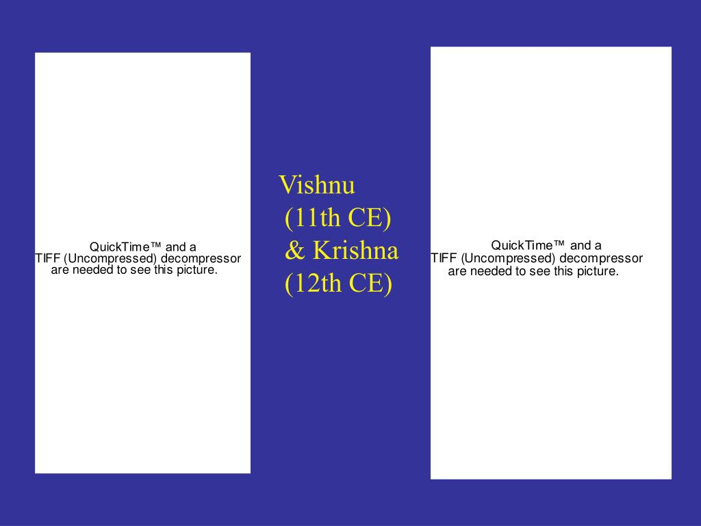 Vishnu (11th CE) & Krishna (12th CE)
