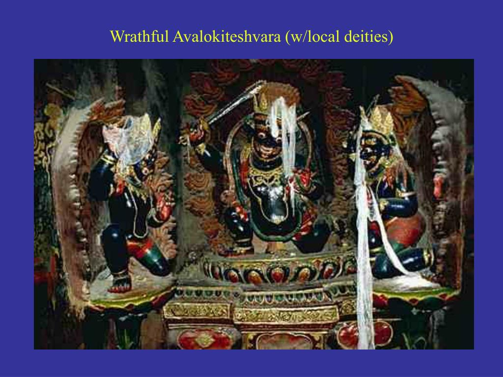 Wrathful Avalokiteshvara (w/local deities)