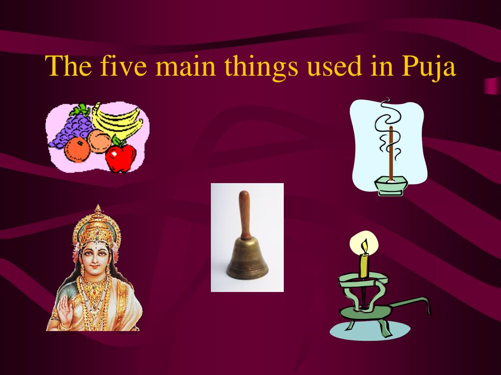 The five main things used in Puja