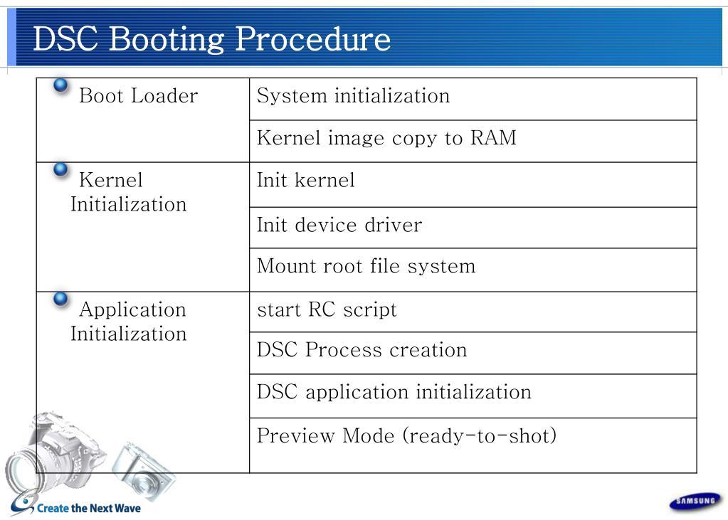 DSC Booting Procedure