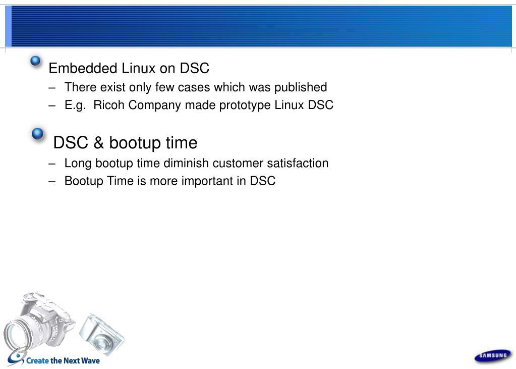 Embedded Linux on DSC