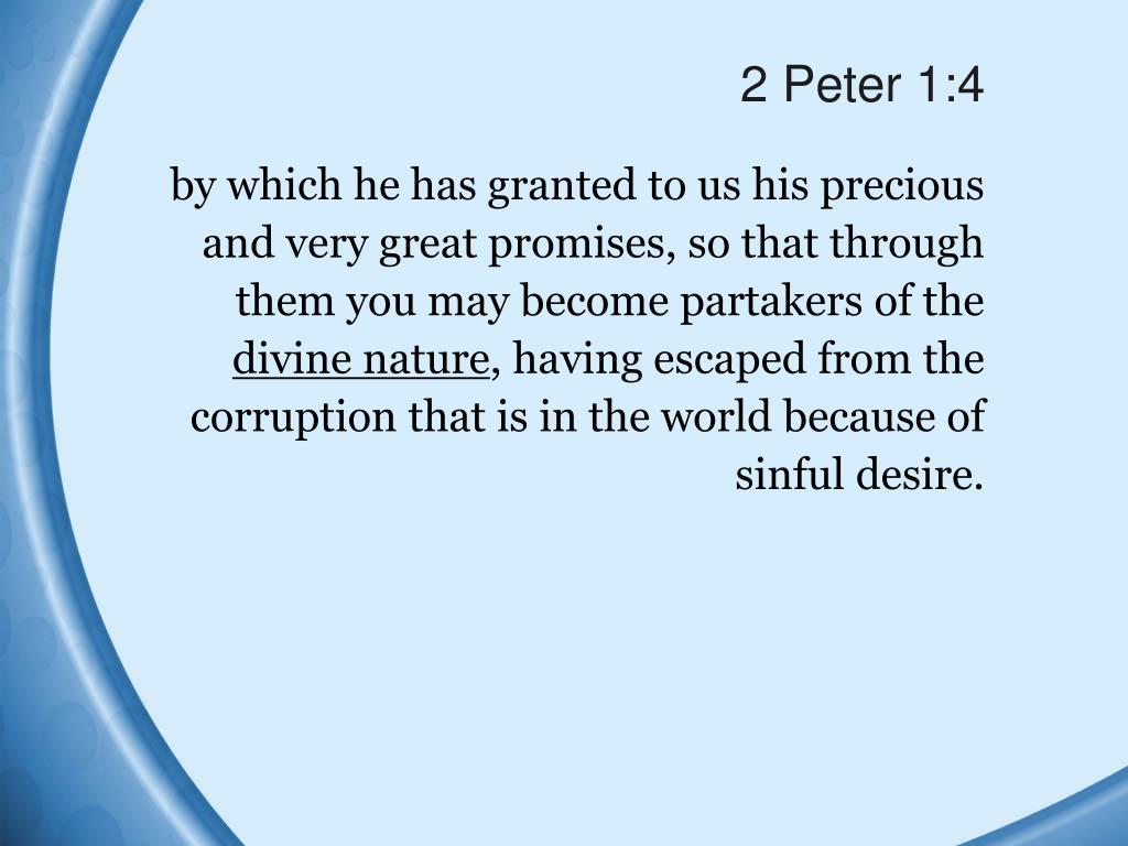 2 Peter 1:4