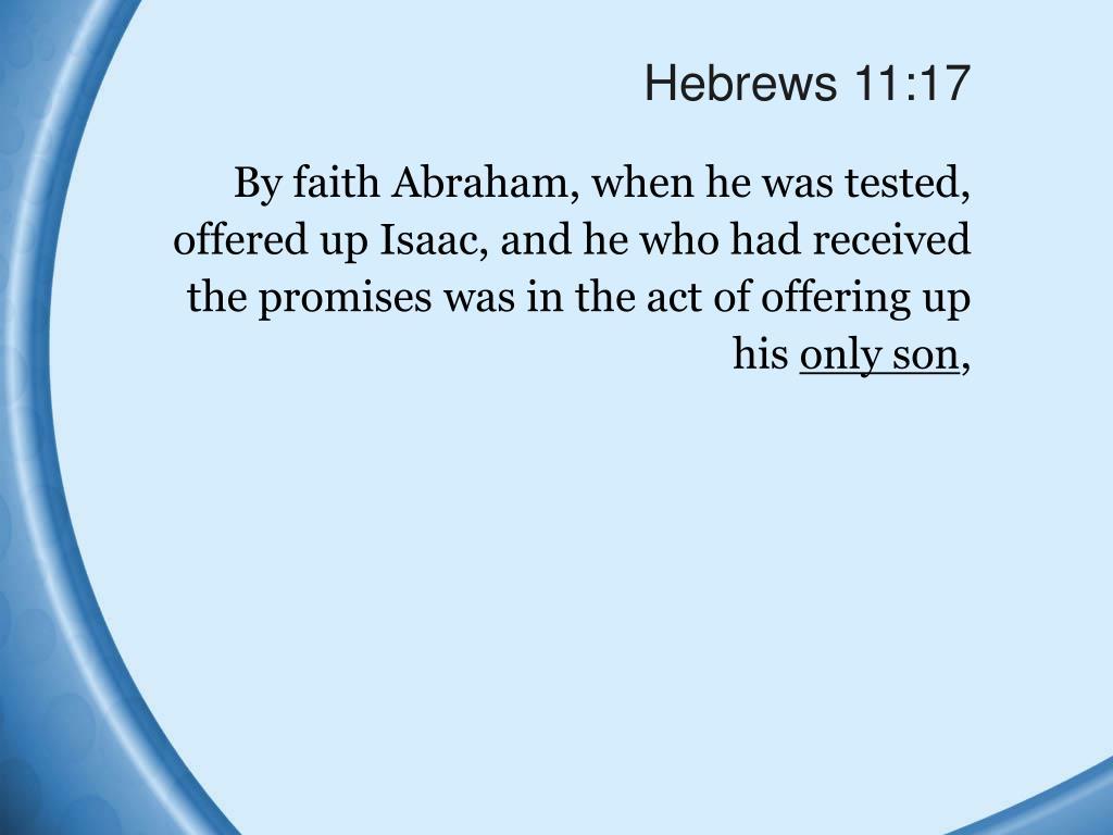 Hebrews 11:17