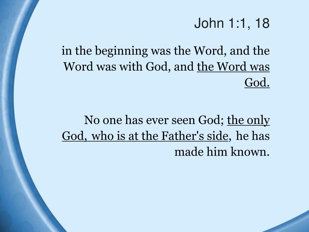 John 1:1, 18