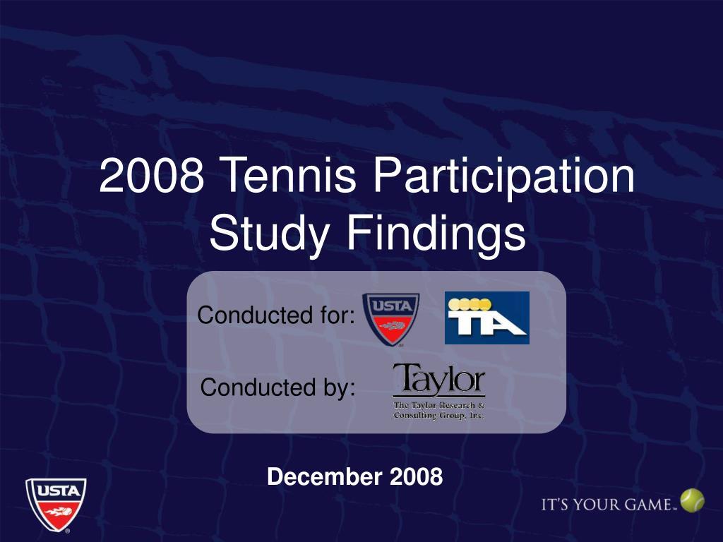 2008 Tennis Participation