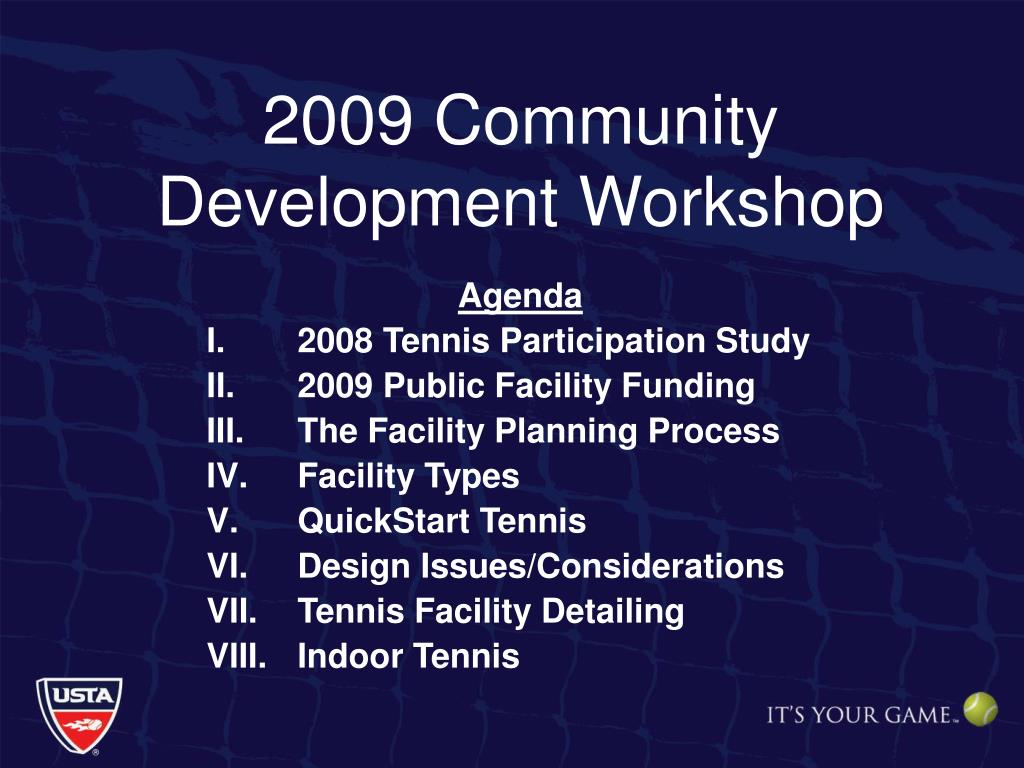 2009 Community Development Workshop