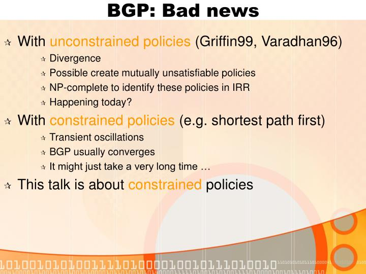 BGP: Bad news