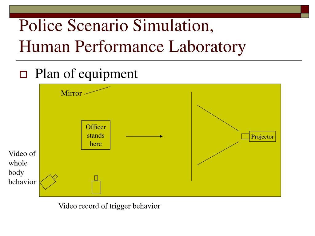 Police Scenario Simulation,