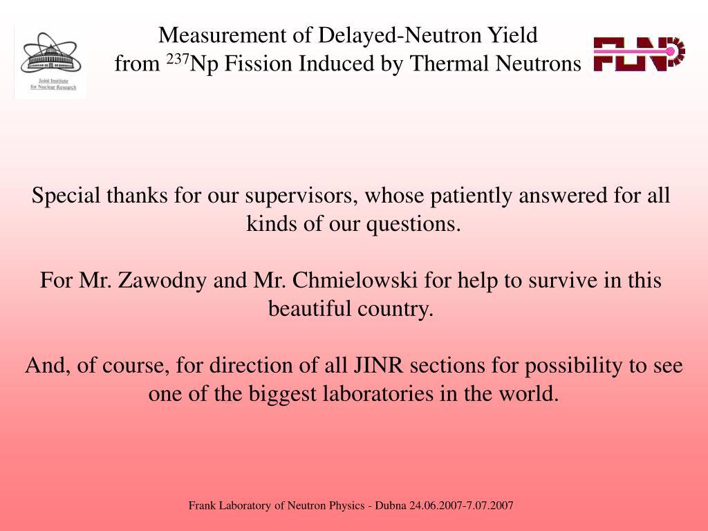 Measurement of Delayed-Neutron Yield