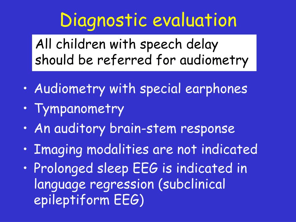 Diagnostic evaluation