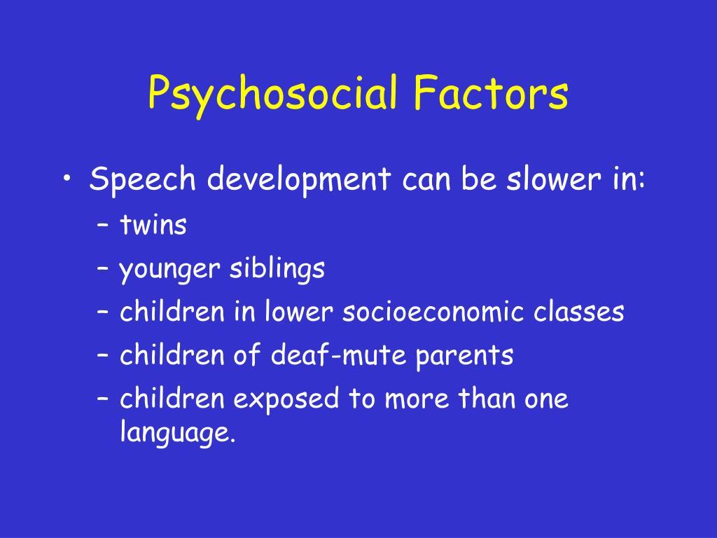 Psychosocial Factors