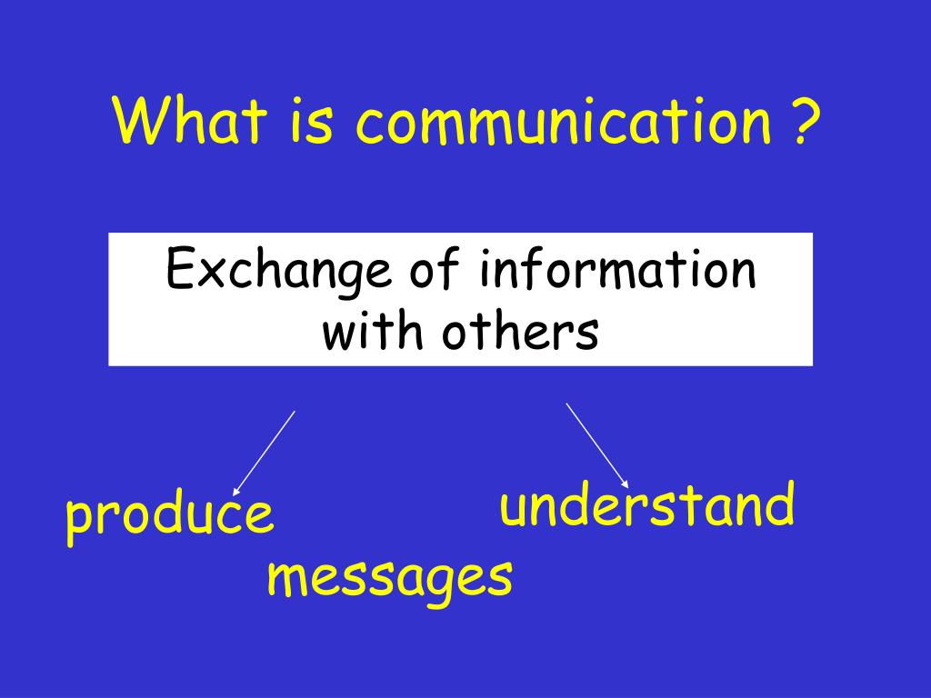 What is communication ?