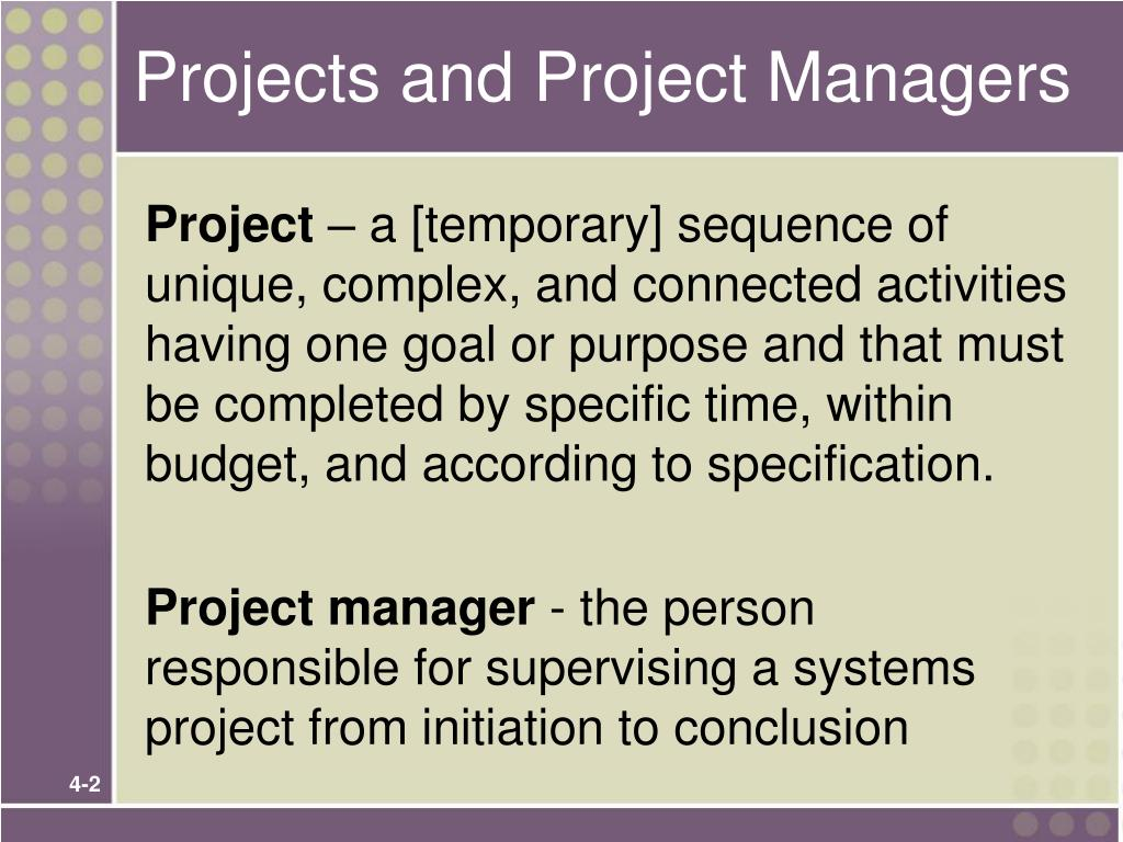 Projects and Project Managers
