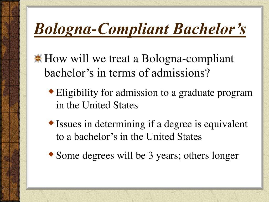 Bologna-Compliant Bachelor's