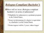 bologna compliant bachelor s