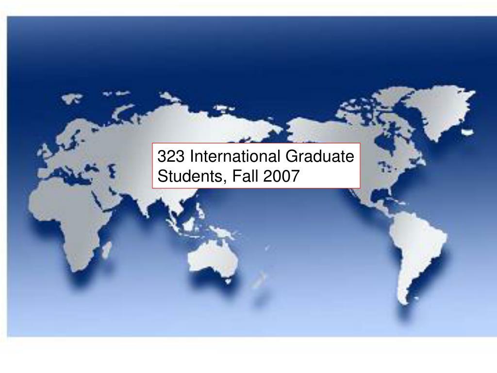 323 International Graduate