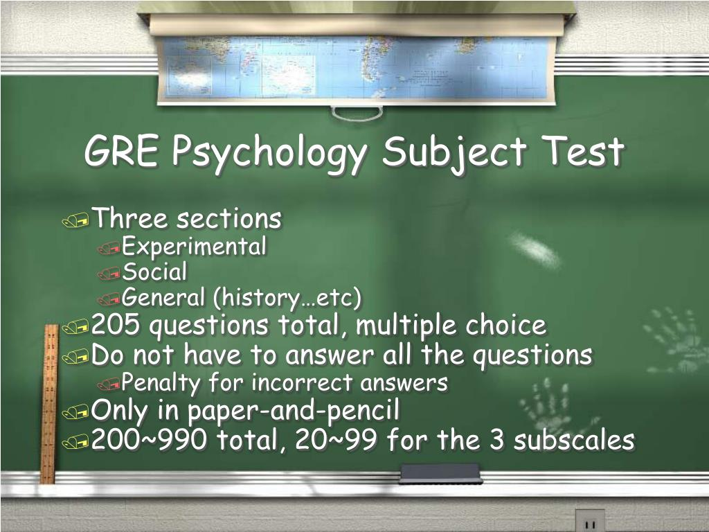 GRE Psychology Subject Test