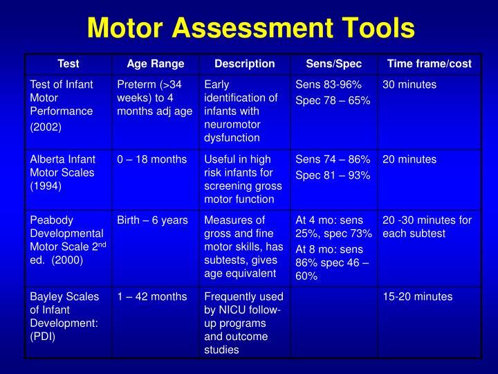 Motor Assessment Tools