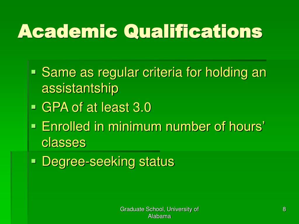 Academic Qualifications