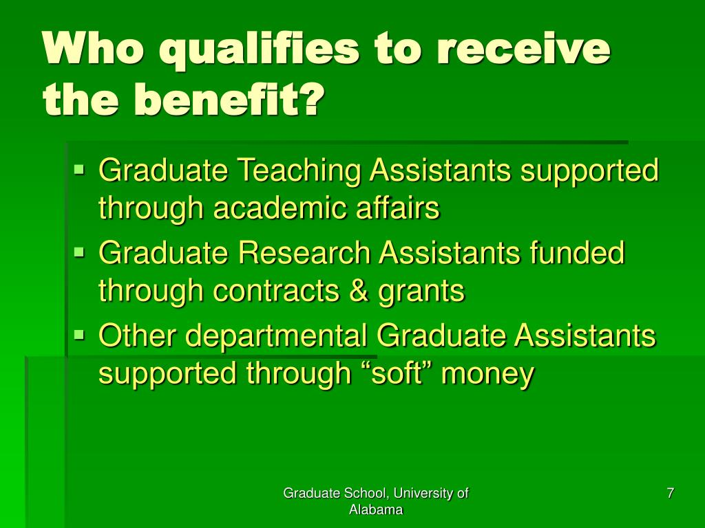 Who qualifies to receive the benefit?