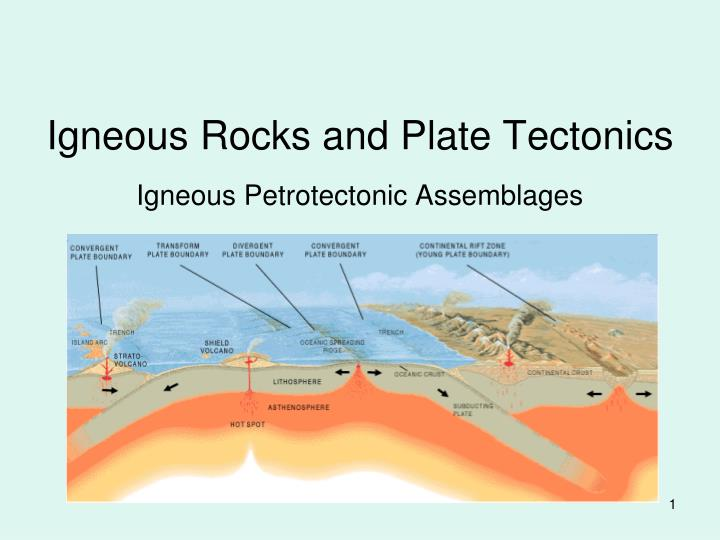 Igneous rocks and plate tectonics l.jpg