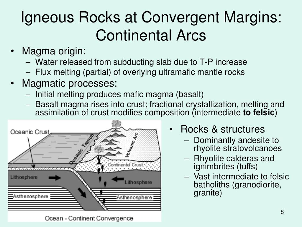 Igneous Rocks at Convergent Margins: Continental Arcs