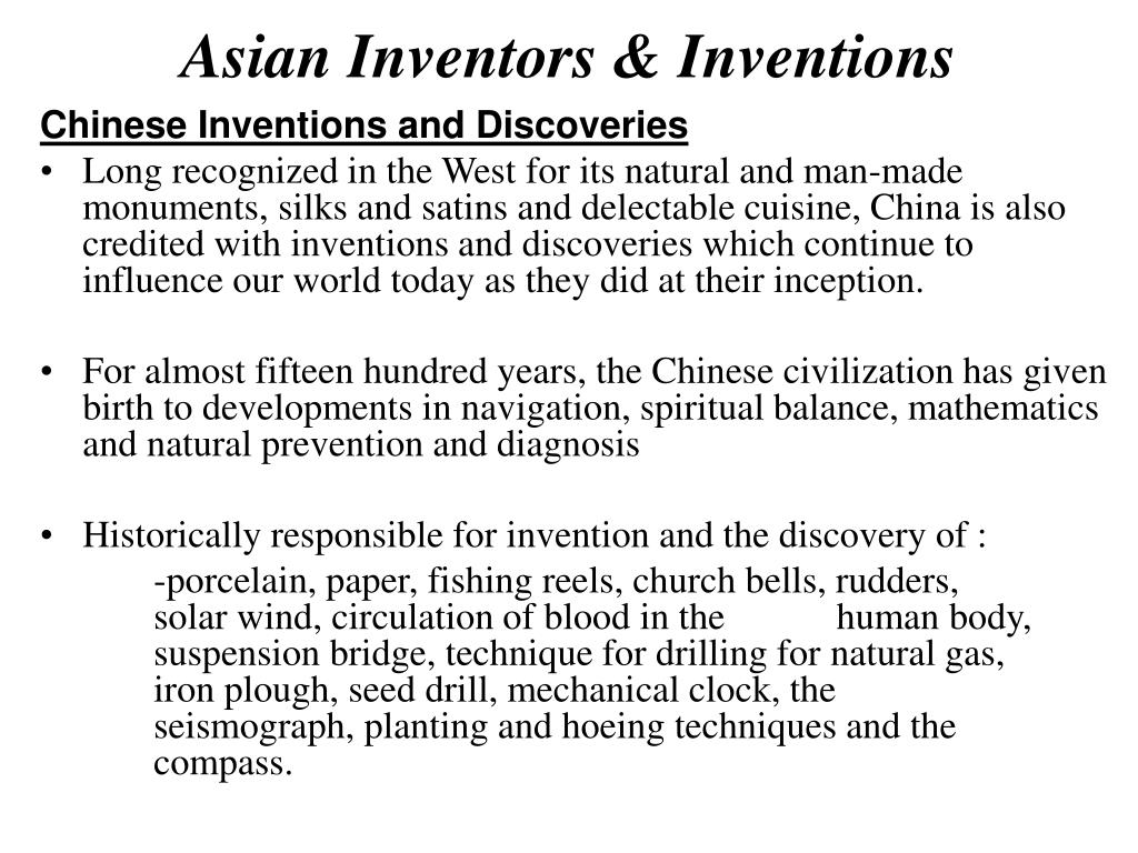 Asian Inventors & Inventions
