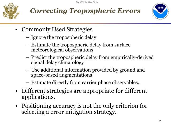 Correcting Tropospheric Errors