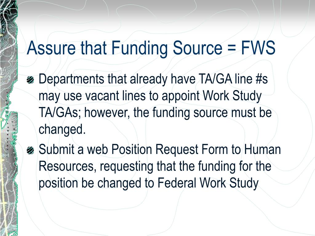 Assure that Funding Source = FWS